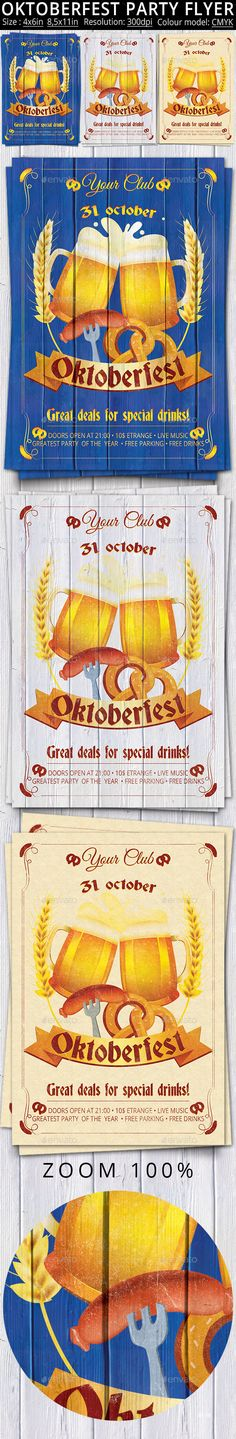 Oktoberfest Festival Party Flyer Poster  — PSD Template • Only available here ➝…