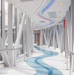 Natural light fills the footbridges and stairwells that create connections at multiple levels to various buildings such as the women's facility at the University of Alabama. #healthcare