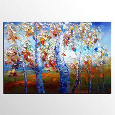 Wall Art, Canvas Painting, Wall Art, Abstract Art, Large Painting, Oil Painting, Large Art, Abstract Painting, Original Painting, Birch Tree