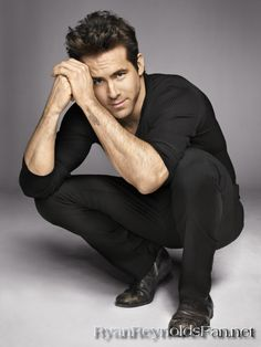 Ryan Reynolds -- think this is one of the better pictures of him that I've seen -- gives him a sort of mysterious look