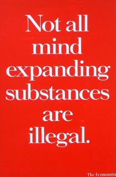 Not all mind expanding substances are illegal. - The Economist Clever Advertising, Print Advertising, Advertising Campaign, Funny Commercials, Funny Ads, Copy Ads, Web Banner Design, Web Banners, Commercial Ads
