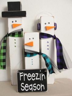 snowman blocks | Freezin Season snowmen blocks