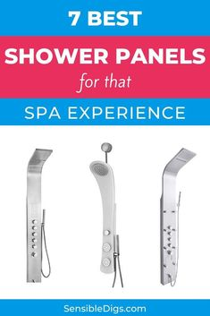 With a shower panel, you can turn your ordinary shower into something a little more like a high-end spa. If massage jets, rainfall showers, and a gleaming silver finish sound good to you, take a look at our list of the top 7 shower panels. #showerideas #showerremodel #showerfaucet #showerheads #showering #bathroomideas #homerenovationideas Shower Fixtures, Shower Faucet, Rainfall Shower, Toilet Design, Shower Panels, Bathroom Trends, Water Quality, Sounds Good, Shower Remodel