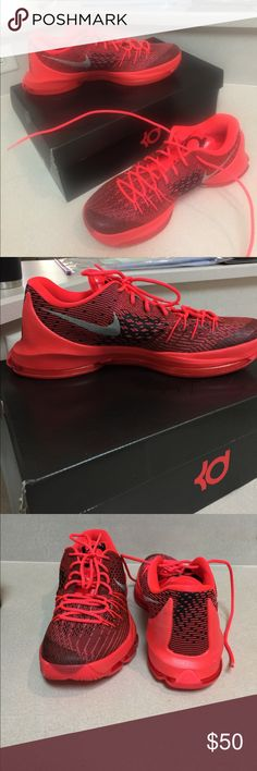 Nike KD 8 KD 8 athletic shoes, bright crimson/black, Air-Sole
