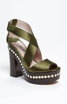 Gorgeous!  Miu Miu Crystal Clog Sandal available at #Nordstrom