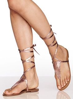 wrap thong sandals