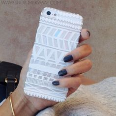 H13 - IPHONE 5/5S 5C Plastic Cover Case - ITZLI HENNA MAYAN AZTEC TRIBAL from milkyway