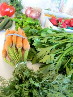 fresh, local, organic veggies? oh yeah, that's my idea of food porn!  lol