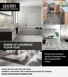 Are you looking for #FloorTilesinBrampton then you are at right place. Welcome to Gracious Hardwood Flooring Inc. and select thick and durable #Floor #Tiles - easy to vacuum and wipe.  Store Address: 72 Devon Rd, Unit 12, Brampton, ON L6T 5E7, Canada  Ph: 416-540-8317, 905-458-8000   #TilesinBrampton #FloorTiles #TileStoresBrampton #TileStore #FloorTilesforKitchen #FloorTilesOutdoor #TileFlooring #TilesFloors #TilesforFlooring #TilingforFloors #FloorTiling #FloorTilesWithPrice… Tiles Price, Hardwood Floors, Flooring, Tile Stores, Tile Design, Devon, Ph, Tile Floor, Canada