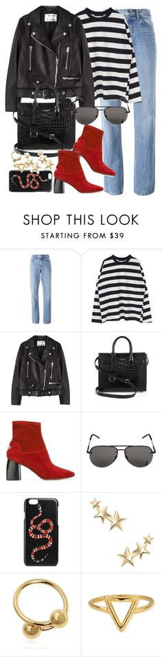 """Untitled #3349"" by angieswardrobe ❤ liked on Polyvore featuring Helmut Lang, Acne Studios, Yves Saint Laurent, Tory Burch, Gucci, Kenneth Jay Lane, J.W. Anderson and ChloBo"