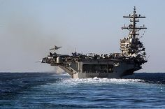 ATLANTIC OCEAN (Dec. 13, 2013) A jet launches from the aircraft carrier USS George H.W. Bush (CVN 77) during its final pre-deployment evaluation. (U.S. Navy photo by Mass Communication Specialist 3rd Class Abe McNatt/Released) #BushCVN77 #AircraftCarrier #USNavy
