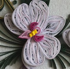 quilled orchids   Quilling card - orchids