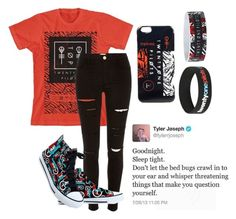 """""""Twenty Øne Piløts (Tag)"""" by bands-are-my-savior ❤ liked on Polyvore featuring moda, River Island, women's clothing, women, female, woman, misses y juniors"""
