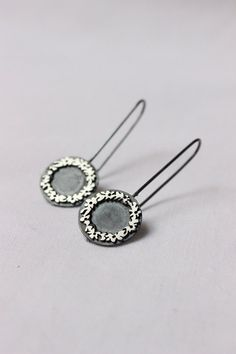 Bouquet earrings made of Sterling silver and black by aforfebre