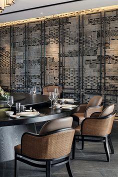 Lotus Zen House Hidden In The Jiuhua Mountain - Picture gallery Deco Restaurant, Restaurant Interior Design, Cafe Interior, Luxury Restaurant, Chinese Restaurant, H Design, Wall Design, Chinese Interior, Indochine