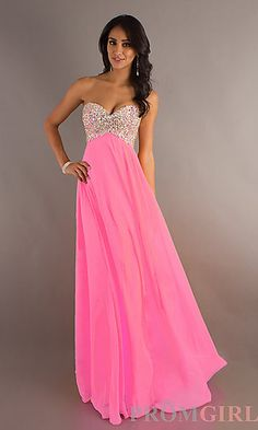 Beaded Strapless Prom Gown by Mori Lee at PromGirl.com