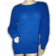 USA MADE AMERICAN PRIDE Womens BLUE Knit Knitted LONG SLEEVE Winter SWEATER TOP $69.98 .. we sell more womens sweaters tops at http://www.tropicalfeel.com