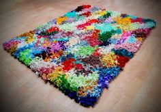 Shaggy Rag Rug Proddy Colorful Multi Colors by KrasneytheRugMaker