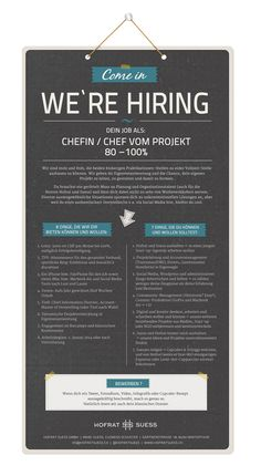 Come in, we're hiring: Dein Job als Chefin / Chef vom Projekt (80%-100%) | The Digital Brothers Blog
