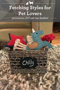 I had some time and a creative streak on my hands, so I decided to try my paw at making a personalized dog toy basket. The result is furbulous! Dog Training Methods, Basic Dog Training, Dog Training Techniques, Training Your Puppy, Training Dogs, Dog Toy Basket, Puppy Obedience Training, Diy Dog Toys, Positive Dog Training