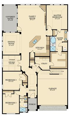 Palmer New Home Plan in Wildwood at Northpointe: Champions and Garden Collections Luxury Patio Homes by Lennar New House Plans, Dream House Plans, Small House Plans, House Floor Plans, Dream Houses, Pole Barn House Plans, The Plan, How To Plan, Metal Building Homes