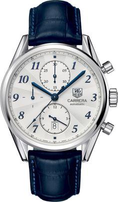 @tagheuer Watch Carrera #bezel-fixed #bracelet-strap-alligator #brand-tag-heuer…