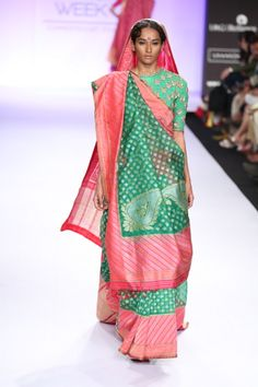 Gaurang Shah sari. Lakme Fashion Week 2014