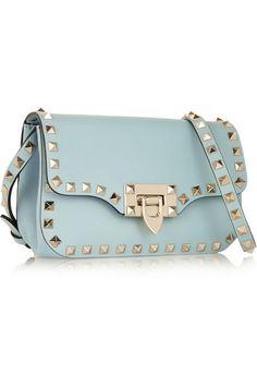 Valentino   Rockstud leather shoulder bag   NET-A-PORTER.COM