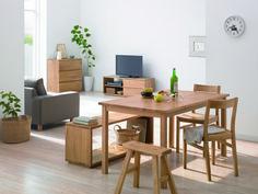 植物很重要 椅子 長凳 不同類型拼湊 MUJI dining table set