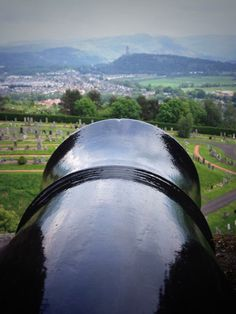 Careful with that... A canon's eye view of the Wallace Monument from Stirling Castle, sent to us by Paul King. #history #daysout