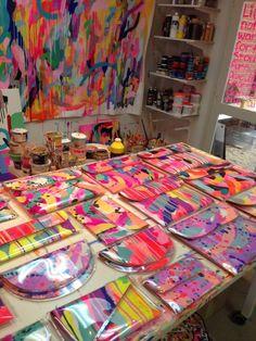 Tiff Manuell's design studio! Pochette Diy, Painted Bags, Transparent Bag, Diy Handbag, Design Studio, Fabric Manipulation, Fabric Painting, Textile Design, Diy Clothes