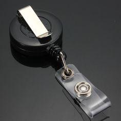 1 шт. выдвижной катушки с зажимом для keys-ids-значки Выдвижной ID Имя Карты Держатель Для Ключей Тег открытый