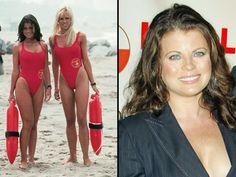 Baywatch, Alexandra Paul, Guinness, White Top And Blue Jeans, Yasmine Bleeth, Nicole Eggert, Swimsuits, Bikinis, Swimwear