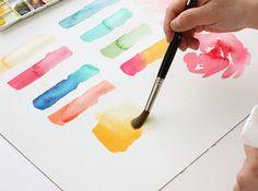 watercolor basics: blending