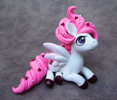 Pink Frosting Pegasus by DragonsAndBeasties on Etsy