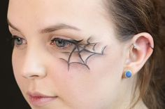 This quick and easy cobweb eye make-up look will take you less than five minutes to apply, but makes an effective addition to any Halloween costume. You create the look with just eyeliner and eyeshadow - watch the step-by-step video for the full tutorial.