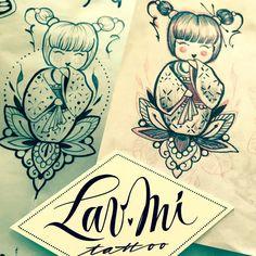 Disponibile x quando rientreró! (Già prenotato)  #kokeshi #kokeshitattoo #kokeshidoll #kokeshisketch #lavmitatto #lav_mi_tattoo #sketch