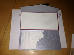 Inside of daughter's wedding invitations.  Stampin' Up! Products.