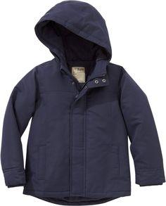 La Redoute Boys Boy's Hooded Parka Lined In Fleece Blue Size 6 Years - 44 In.