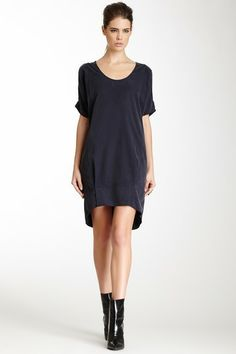 Cupro Cold Shoulder Dress by Kaelen NYC