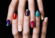 Have fun with colors this fall with these easy-to-follow multi-colored manicure tips!  No pun intended.