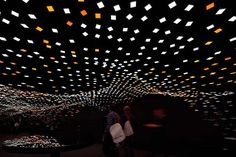 Torafu Architects designed a magical OLED installation inspired by Yozakura, a traditional Japanese custom of enjoying cherry blossoms at night. Flexible Oled, Oled Light, Light Installation, Architect Design, Green Building, Light Art, Photo Wall, Architecture, Inspiration
