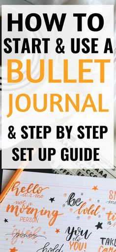 How to start a bullet journal for beginners. This step by step guide is THE BEST… How to start a bullet journal for beginners. This step by step guide is THE BEST! Now I'm going to be more productive and organized htis year! Bullet Journal For Kids, Bullet Journal For Beginners, Bullet Journal How To Start A, Daily Journal, Bullet Journal Layout, Bullet Journal Inspiration, Journal Pages, Journal Ideas, Bullet Journals