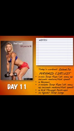 Zshred Day 11 Burpees, Thinspiration, Lunges, Workout Programs, Circuit, Push Up, Kicks, Exercise, Calendar