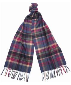 A country inspired check design scarf produced in 95% Lambswool, 5% Cashmere.