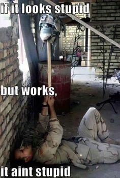 If it looks stupid but works, it ain't stupid! Tactics? #paintball #funny #humor #meme