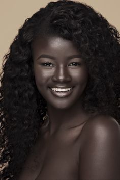 "Black is beautiful and comes in all shades. South Sudanese model Nyakim Gatwech is truly the epitome of this. Her moonshine dark skin has now taken the internet by storm, thus earning her the title ""Queen Of Dark Beauty, Beauty Skin, Natural Beauty, Beautiful Dark Skinned Women, My Black Is Beautiful, Pretty Black, Beautiful Smile, Stunningly Beautiful, Absolutely Gorgeous"