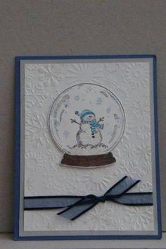 snowman in globe by vesna - Cards and Paper Crafts at Splitcoaststampers