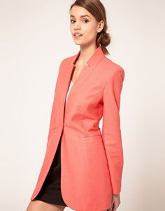 ASOS - Long Line Blazer in Cotton  - $127.25