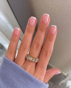 French Tip Acrylic Nails, French Manicure Nails, Manicure E Pedicure, Best Acrylic Nails, Manicure At Home, Short French Tip Nails, Colored French Nails, Natural French Manicure, Gel On Natural Nails